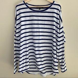 Kiara striped long sleeve shirt size XXL